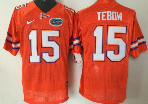 Men's Florida Gators #15 Tim Tebow Orange Stitched NCAA Nike College Football Jersey