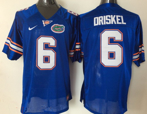 Men's Florida Gators #6 Jeff Driskel Royal Blue Stitched NCAA Nike College Football Jersey