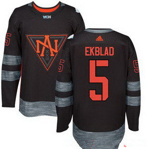 Men's North America Hockey #5 Aaron Ekblad Black 2016 World Cup of Hockey Stitched adidas WCH Game Jersey