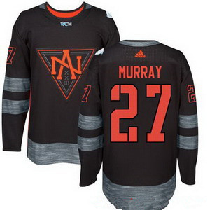 Men's North America Hockey #27 Ryan Murray Black 2016 World Cup of Hockey Stitched adidas WCH Game Jersey
