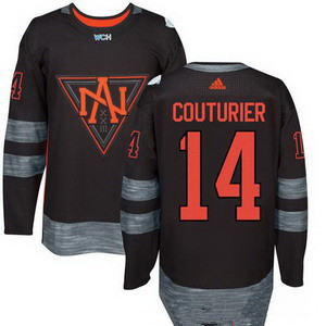 Men's North America Hockey #14 Sean Couturier Black 2016 World Cup of Hockey Stitched adidas WCH Game Jersey