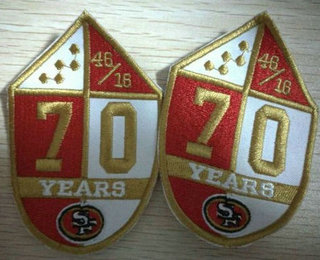 San Francisco 49ers 70th Anniversary Patch