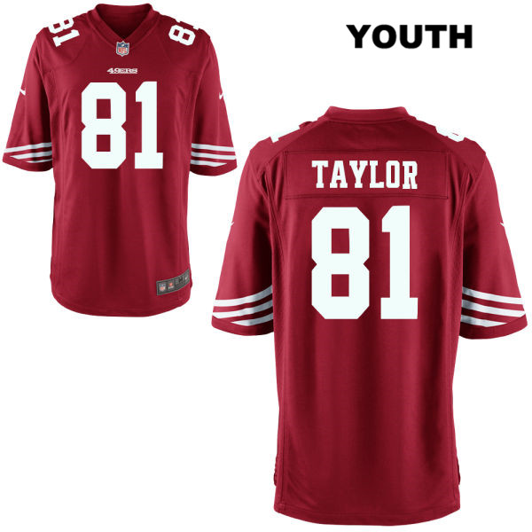 Youth Nike San Francisco 49ers Alternate #81 Trent Taylor Home Red  Football Jersey