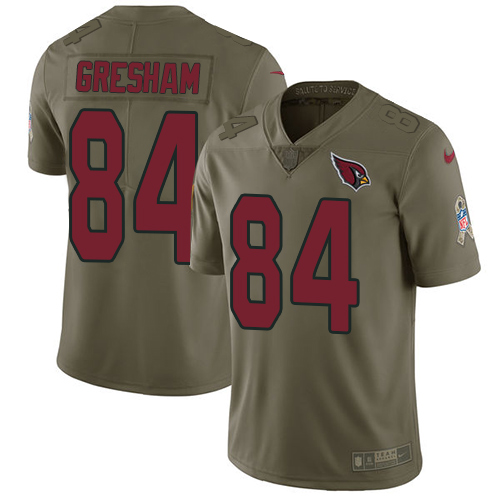 Nike Arizona Cardinals #84 Jermaine Gresham Olive Men's Stitched NFL Limited 2017 Salute to Service Jersey