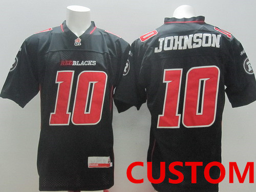 Custom CFL Ottawa RedBlacks Black Jersey