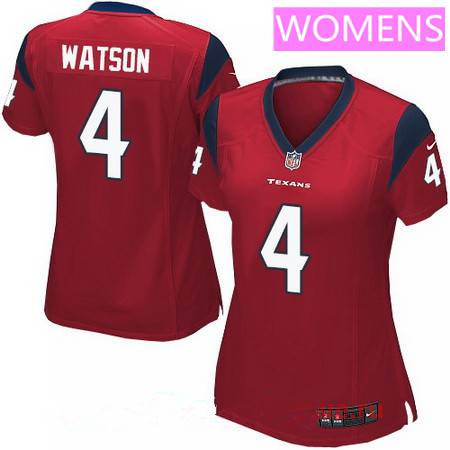 Women's Houston Texans #4 Deshaun Watson Elite Red Alternate NFL Jersey