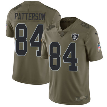 Nike Oakland Raiders #84 Cordarrelle Patterson Olive Men's Stitched NFL Limited 2017 Salute To Service Jersey