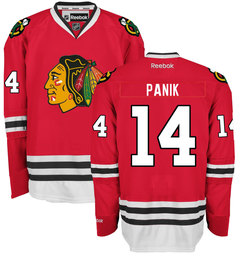 Men's Chicago Blackhawks #14 Richard Panik Home Red Reebok Hockey Jersey