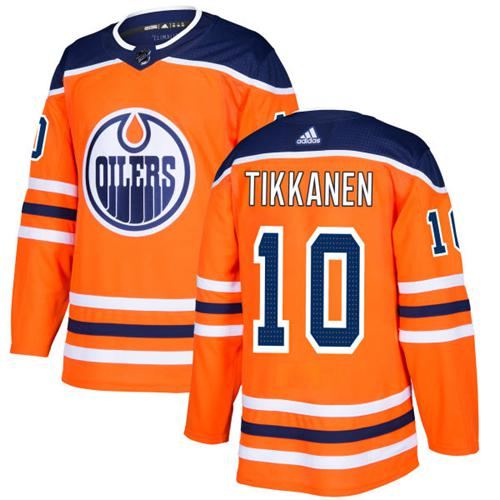 Adidas Edmonton Oilers #10 Esa Tikkanen Orange Home Authentic Stitched NHL Jersey