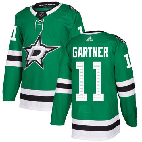 Adidas Dallas Stars #11 Mike Gartner Green Home Authentic Stitched NHL Jersey