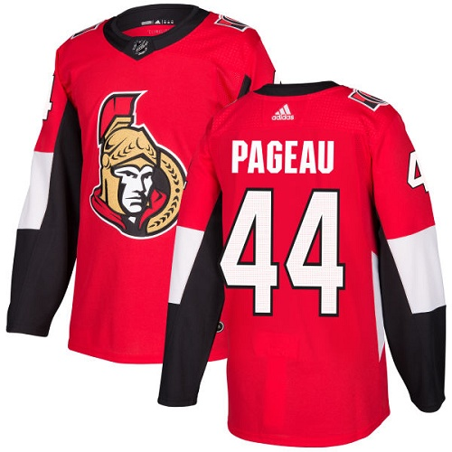 Adidas Senators #44 Jean-Gabriel Pageau Red Home Authentic Stitched NHL Jersey