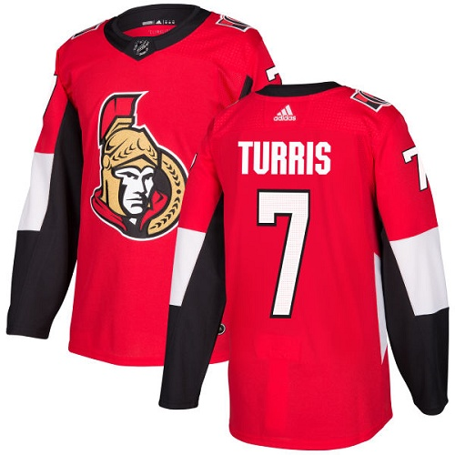 Adidas Senators #7 Kyle Turris Red Home Authentic Stitched NHL Jersey