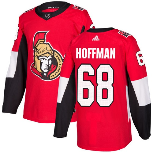 Adidas Senators #68 Mike Hoffman Red Home Authentic Stitched NHL Jersey