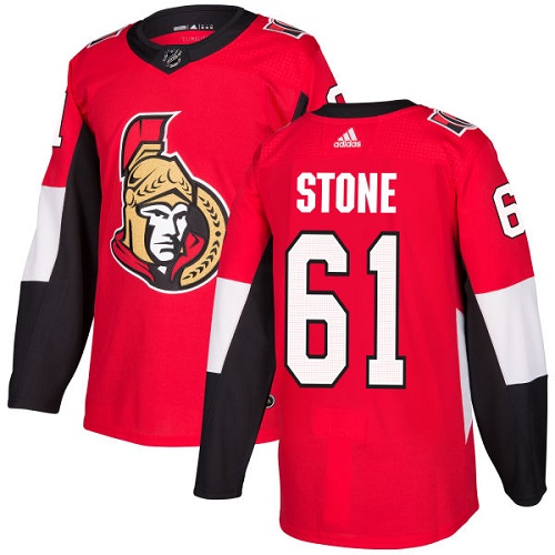 Adidas Senators #61 Mark Stone Red Home Authentic Stitched NHL Jersey