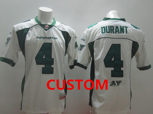 CFL Saskatchewan Roughriders Custom White Jersey