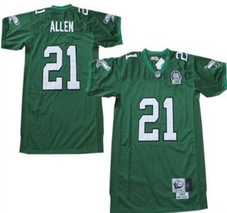 Philadelphia Eagles #21 Eric Allen Light Green Throwback 99TH Jersey