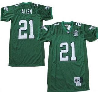 Philadelphia Eagles #21 Eric Allen Light Green Throwback 99TH Jersey