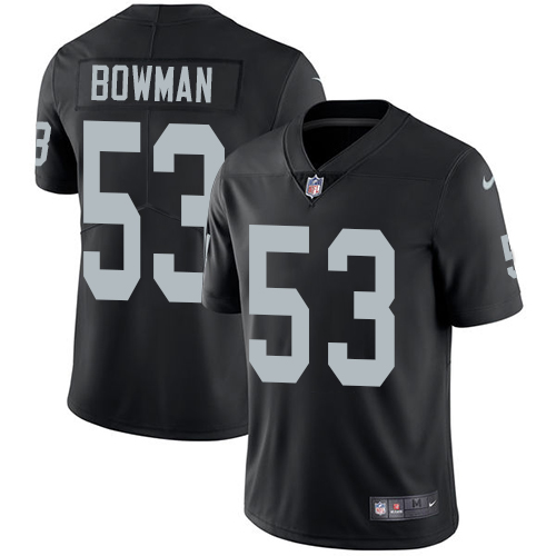 Nike Raiders #53 NaVorro Bowman Black Team Color Men's Stitched NFL Vapor Untouchable Limited Jersey