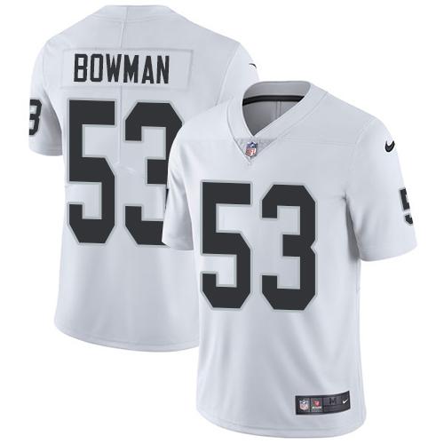 Nike Raiders #53 NaVorro Bowman White Men's Stitched NFL Vapor Untouchable Limited Jersey