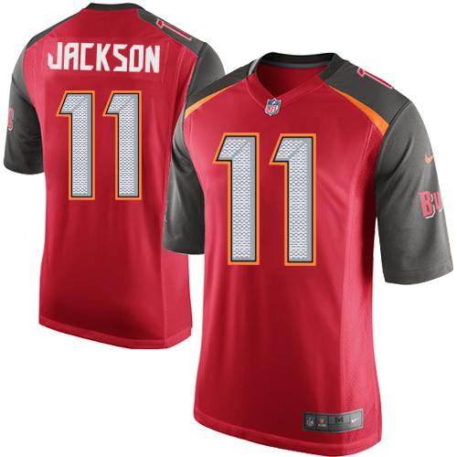 Youth Nike Tampa BayBuccaneers #11 DeSean Jackson Red Team Color Stitched NFL New Elite Jersey