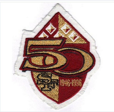 Stitched 1996 San Francisco 49ers 50th Anniversary Season Jersey Patch