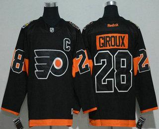 c0753c7995e Men's Philadelphia Flyers #28 Claude Giroux Black 2017 Stadium Series  Stitched NHL Reebok Hockey Jersey