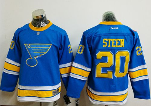 Blues #20 Alexander Steen Light Blue 2017 Winter Classic Stitched Youth NHL Jersey