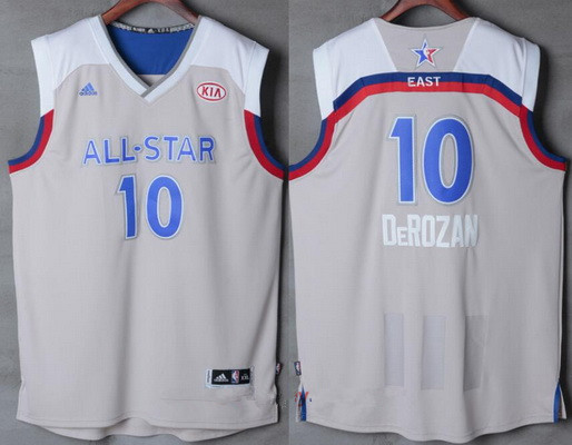 Men's Eastern Conference Toronto Raptors #10 DeMar DeRozan adidas Gray 2017 NBA All-Star Game Swingman Jersey