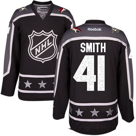 Men's Pacific Division Arizona Coyotes #41 Mike Smith Reebok Black 2017 NHL All-Star Stitched Ice Hockey Jersey