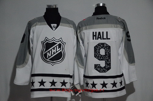 Men's Metropolitan Division New Jersey Devils #9 Taylor Hall Reebok White 2017 NHL All-Star Stitched Ice Hockey Jersey