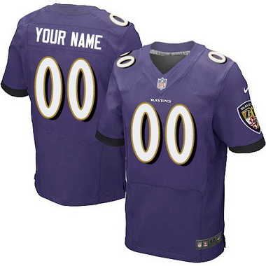 Men's Nike Baltimore Ravens Customized 2014 Purple Elite Jersey