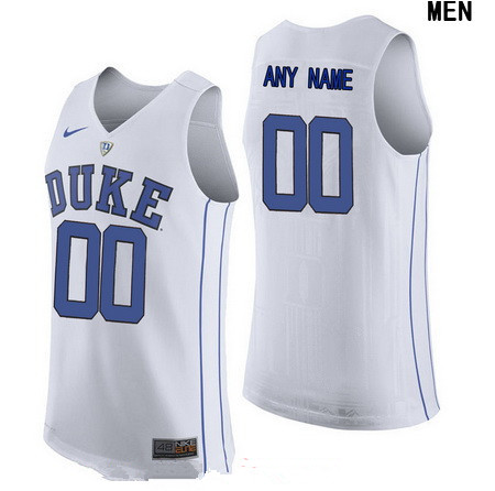 Youth Duke Blue Devils Custom Nike Performance Elite College Basketball Jersey - White
