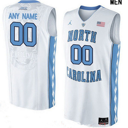 Youth North Carolina Tar Heels Custom Brand Jordan College Basketball Jersey - White