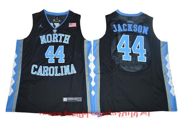 Men's North Carolina Tar Heels #44 Justin Jackson Black College Basketball 2017 Brand Jordan Swingman Stitched NCAA Jersey