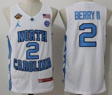 Men's North Carolina Tar Heels #2 Joel Berry II White Final Four Patch College Basketball 2017 Brand Jordan Swingman Stitched NCAA Jersey