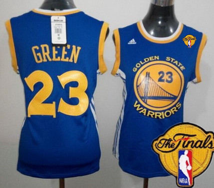 Women's Golden State Warriors #23 Draymond Green Blue 2017 The NBA Finals Patch Jersey