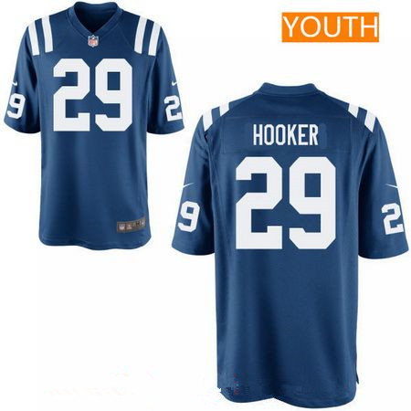 Youth 2017 NFL Draft Indianapolis Colts #29 Malik Hooker Royal Blue Team Color Stitched NFL Nike Game Jersey