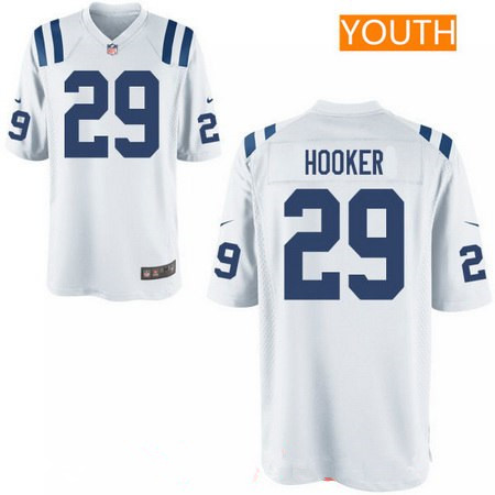 Youth 2017 NFL Draft Indianapolis Colts #29 Malik Hooker White Road Stitched NFL Nike Game Jersey