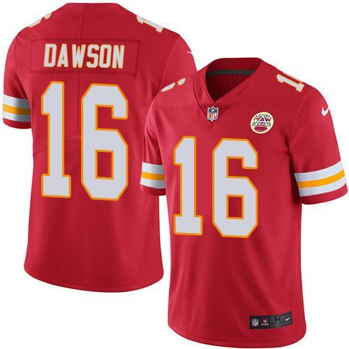 Nike Chiefs #16 Len Dawson Red Team Color Men's Stitched NFL Vapor Untouchable Limited Jersey