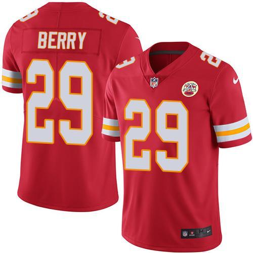 Nike Kansas City Chiefs #29 Eric Berry Red Team Color Men's Stitched NFL Vapor Untouchable Limited Jersey