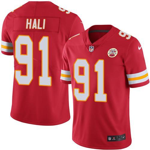 Nike Kansas City Chiefs #91 Tamba Hali Red Team Color Men's Stitched NFL Vapor Untouchable Limited Jersey