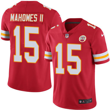 Nike Kansas City Chiefs #15 Patrick Mahomes II Red Team Color Men's Stitched NFL Vapor Untouchable Limited Jersey