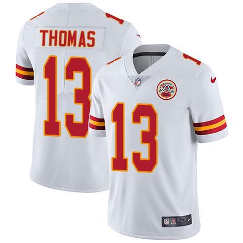 Nike Chiefs #13 De'Anthony Thomas White Men's Stitched NFL Vapor Untouchable Limited Jersey
