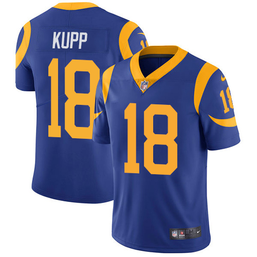 Nike Los Angeles Rams #18 Cooper Kupp Royal Blue Alternate Men's Stitched NFL Vapor Untouchable Limited Jersey
