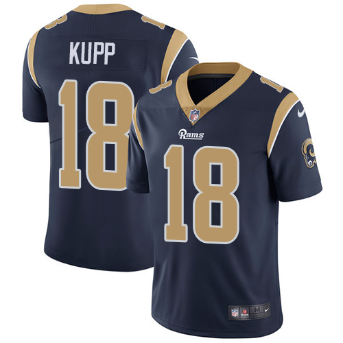 Nike Los Angeles Rams #18 Cooper Kupp Navy Blue Team Color Men's Stitched NFL Vapor Untouchable Limited Jersey