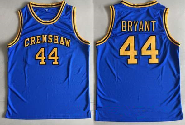 Men's Crenshaw High School #44 Bryant Royal Blue Soul Swingman Stitched Basketball Jersey