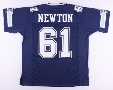 Dallas Cowboys #61 Nate Newton Navy Blue Throwback Jersey