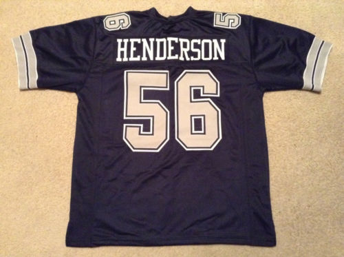 Dallas Cowboys #56 Hollywood Henderson Navy Blue Throwback Jersey