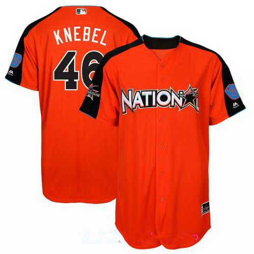 Men's National League Milwaukee Brewers #46 Corey Knebel Majestic Orange 2017 MLB All-Star Game Home Run Derby Player Jersey
