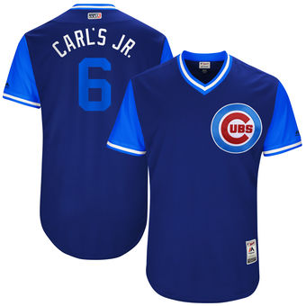 Men's Chicago Cubs Carl Edwards Jr. Carl's Jr. Majestic Royal 2017 Players Weekend Authentic Jersey